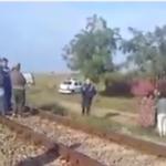 Accidente feroviare în lanț: Bătrână călcată de tren / Video