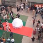 România Tv: Nuntă țigănească în curtea unei instituții publice / Video