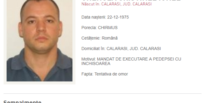 Lovitură dată de IPJ Călărași: CHIRMUȘ A FOST PRINS!